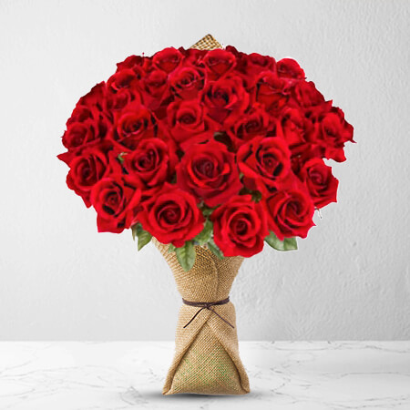 Image of 36 Long Stem Premium Rose Bouquet Flowers