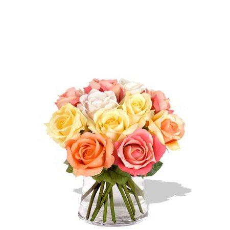 Image of One Dozen Pastel Roses